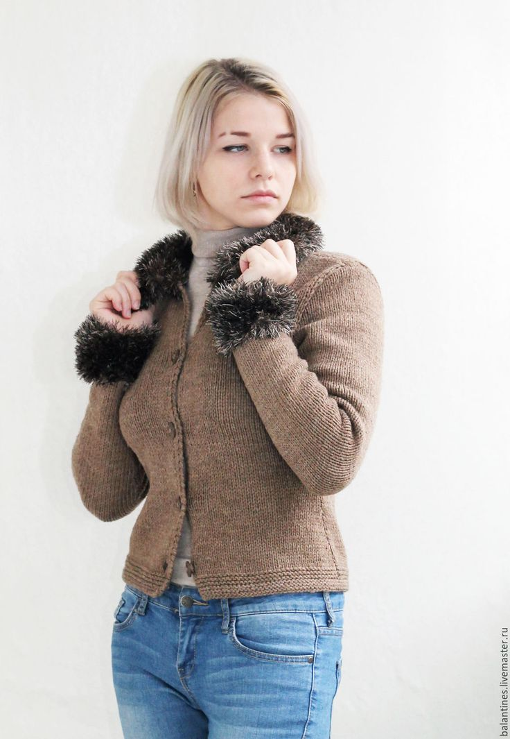 Buy Knitted cashmere woman jacket - knitted jacket, knitted cashmere jacket