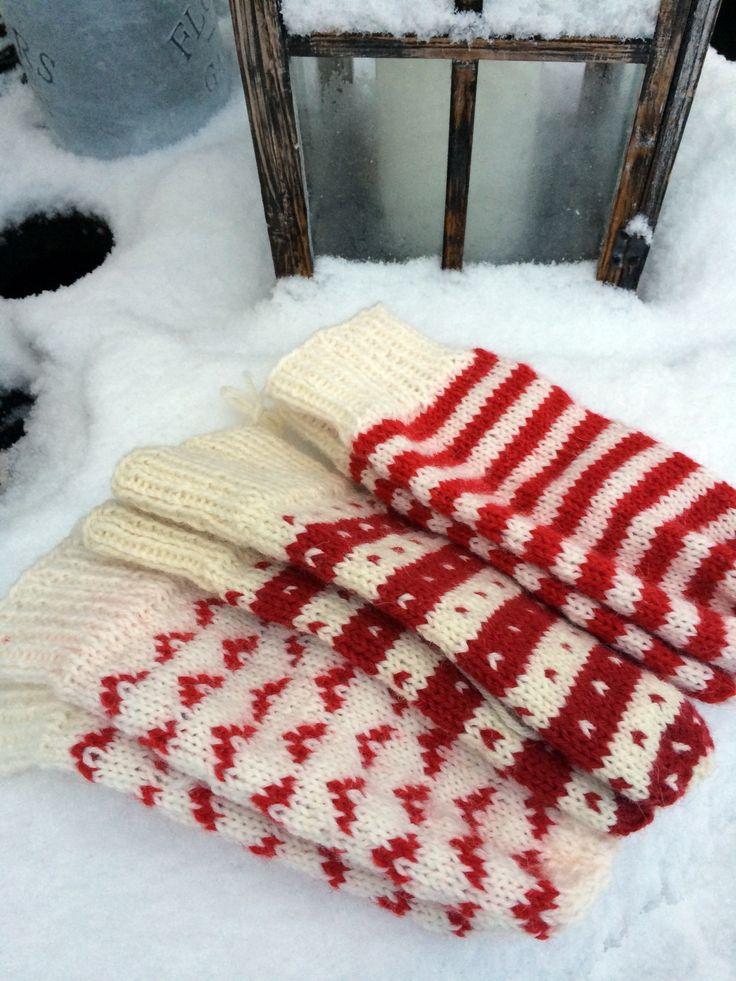 """Har strikket """"julevotter"""""""