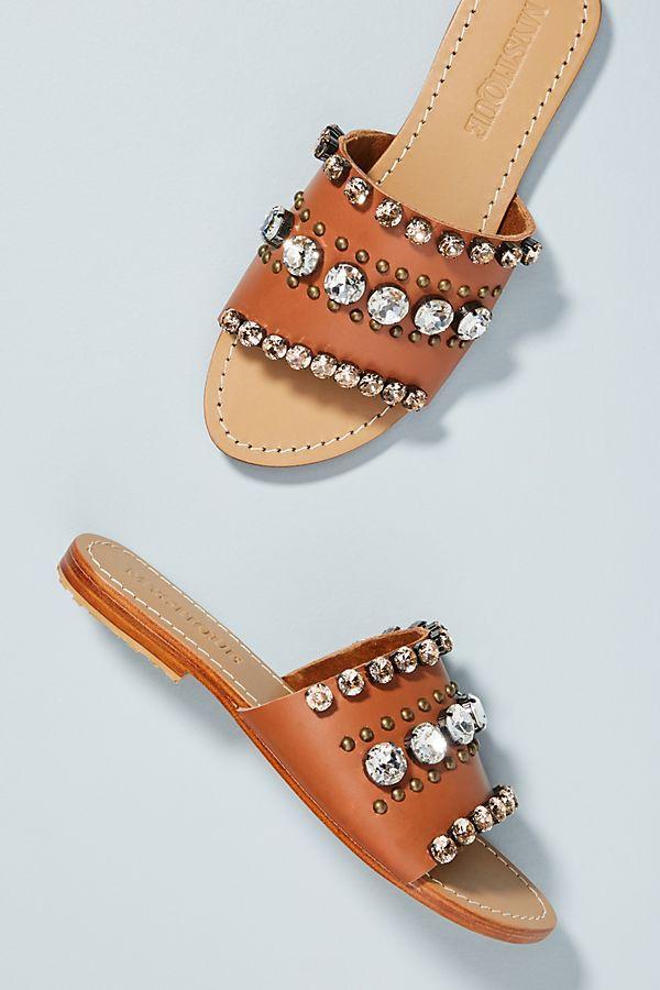 09c83ceb7c6 Mystique Embellished Slide Sandals in 2018