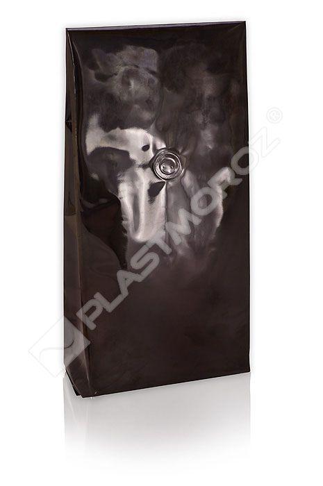 Stabilo czarny zawór 250g. Woreczki foliowe z zaworem wewnętrznym typu GOGLIO służą do pakowania towaru o konsystencji sypkiej i płynnej. Przeznaczone do produktów spożywczych oraz chemii użytkowej.  Opakowania Plastmoroz gwarantują odpowiednie zabezpieczenie sprzedawanego produktu.