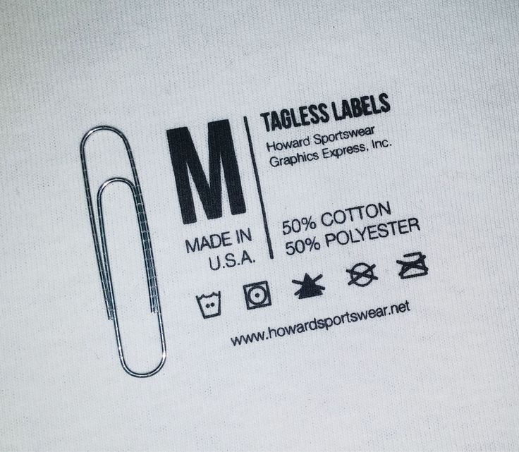 Custom Tagless Labels | Howard Multi-Purpose Heat Transfers #taglesslabels