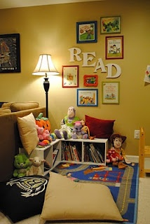 Love the idea of framed book covers as wall art! Think of it for a children's or play room?!