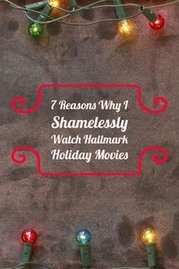 Tis� the season of Hallmark's holiday movies!�   Set your DVR�s because Hallmark Channel's Countdown To Christmas is only a week away!    Read my latest post on the blog to find out the 7 reasons why I shamelessly watch Hallmark holiday movies. (And,why