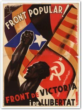 Carteles de propaganda | [Field_year-prima] | Frente popular | Vintageposter.nl | carteles de época