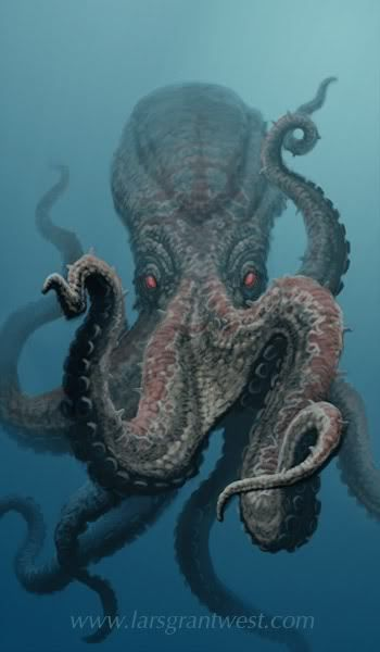 """Octopus--Octopods, if plural  Octopi is """"not"""" proper form. I don't care what you call it, it looks scary to me."""