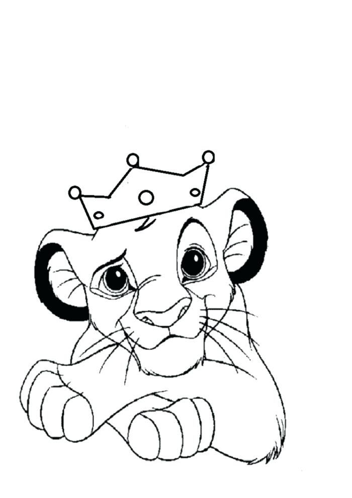Baby Lion Coloring Page Youngandtae Com In 2020 Dinosaur Coloring Pages Lion Coloring Pages Coloring Pages
