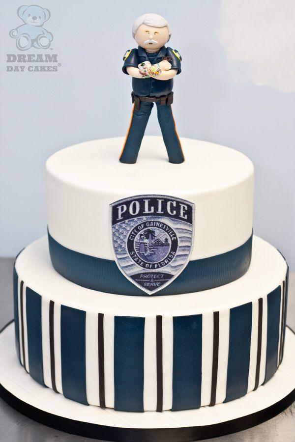 Gainesville Police Officer Retirement Cake                                                                                                                                                                                 Mais