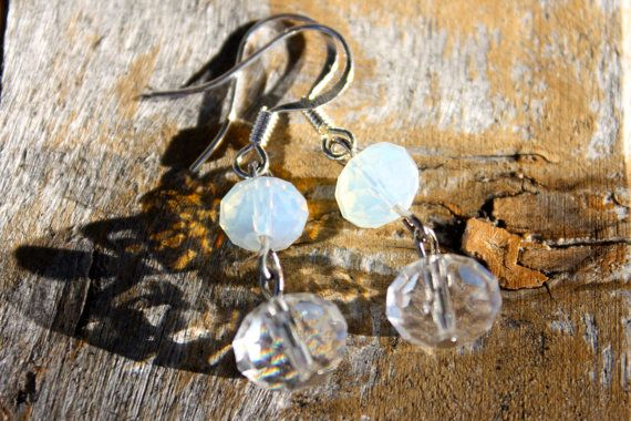 Lovely Moonstone Earrings  by ForTheLoveOfColour on Etsy