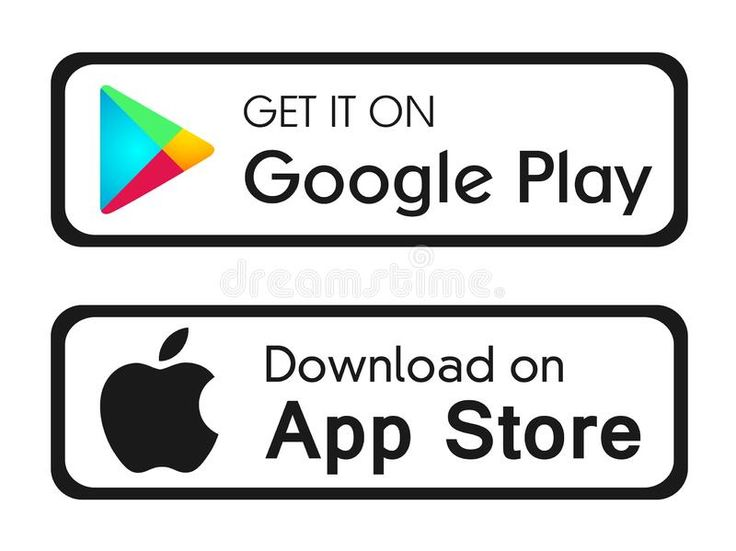 Google play app store icons buttons vector banners for web