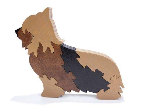 Yorkshire Terrier Puzzle - Yorkie Toy | berkshirebowls - Children's on ArtFire $19.99