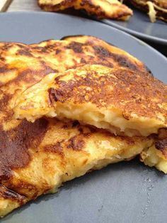 Pancakes légers pommes fromage blanc