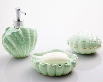 Accessoires de salle de bain coquillage becquet bebe for Accessoires de salle de bain shabby chic