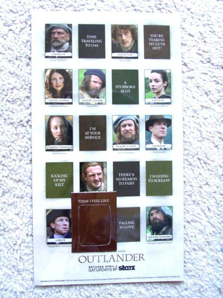 Outlander Starz TV show season 1 pt two 2 promo magnet not Comic Con Sam Heughan in Entertainment Memorabilia, Television Memorabilia, Merchandise & Promotional   eBay