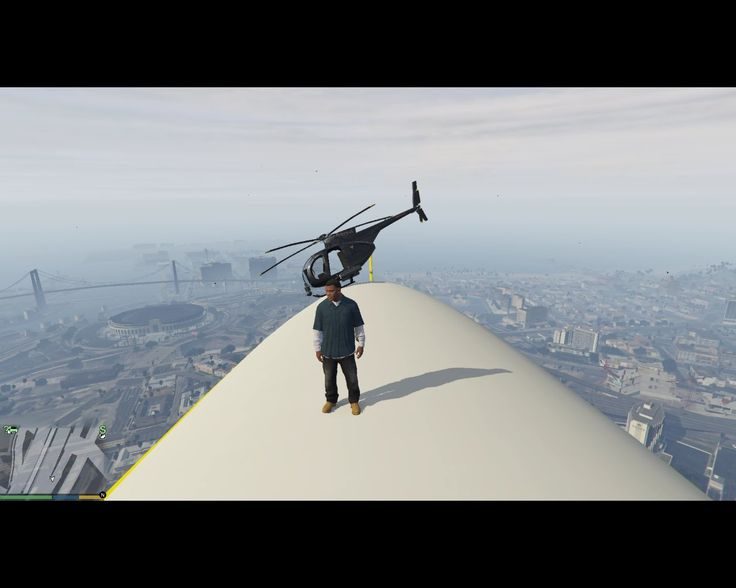 GTA 5 - ATOMIC BLIMP LAND AND FLY