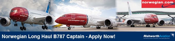 http://ow.ly/SSdcz   2016 Norwegian Long Haul B787 recruitment now open! Work for this multi-award winning airline - Apply today!   #RishworthAV #pilotjobs