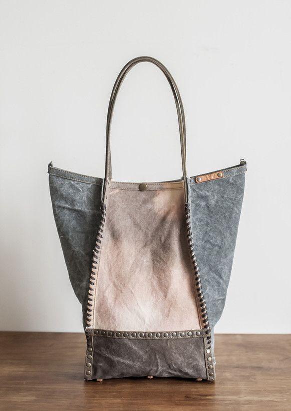水洗帆布側肩袋 | 斜背包・側背包・肩背包 | WZshop | Creema 手作・設計購物網站