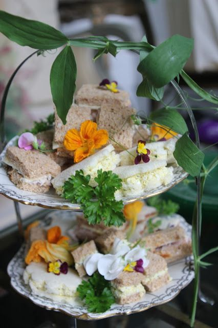 Fairy garden tea sandwiches idea