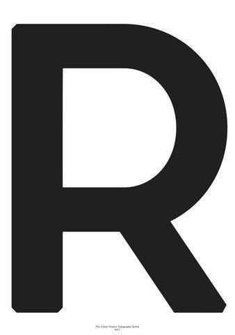 Typography Art Print - 'R'