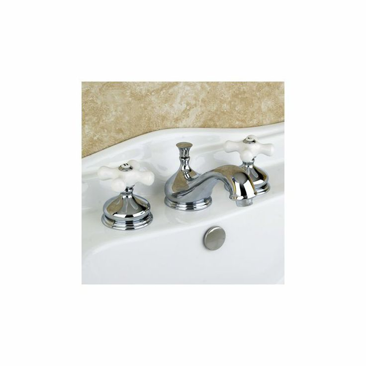 Heritage Double Handle Widespread Bathroom Faucet with Brass Pop-Up Drain - KS116