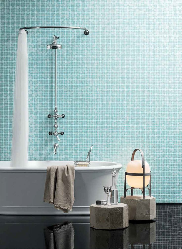 Just one of Bisazza'a new fine blends for 2016, this is DINA. DINA is a delicate combination of three different colours and styles of mosaic tessera, producing a beautiful and calming premium finish for interiors or even pools.