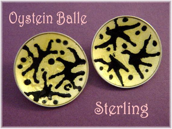 Oystein Balle  Abstract Sterling Silver by FindMeTreasures on Etsy