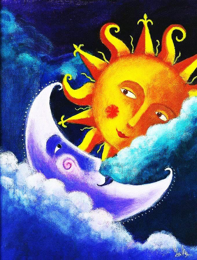 moon and sun - 680×894