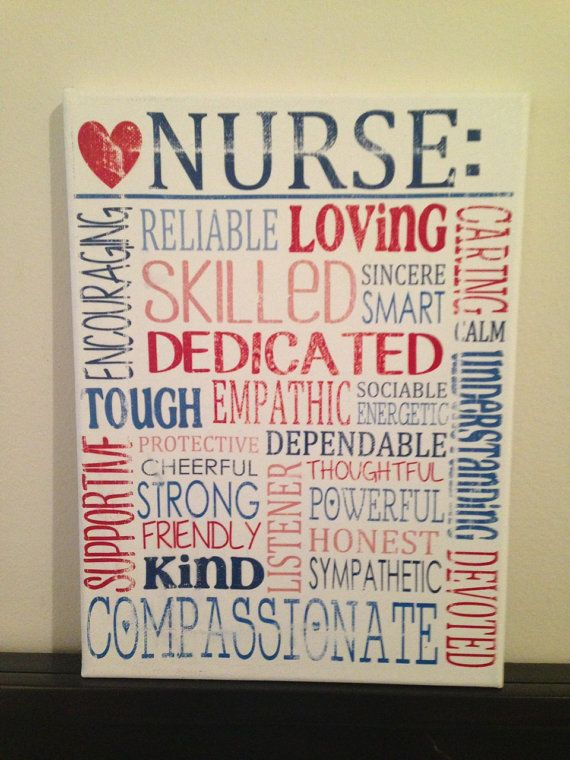 Subway Art Canvas  Words That Describe a Nurse by CreationsbyCLM, $30.00