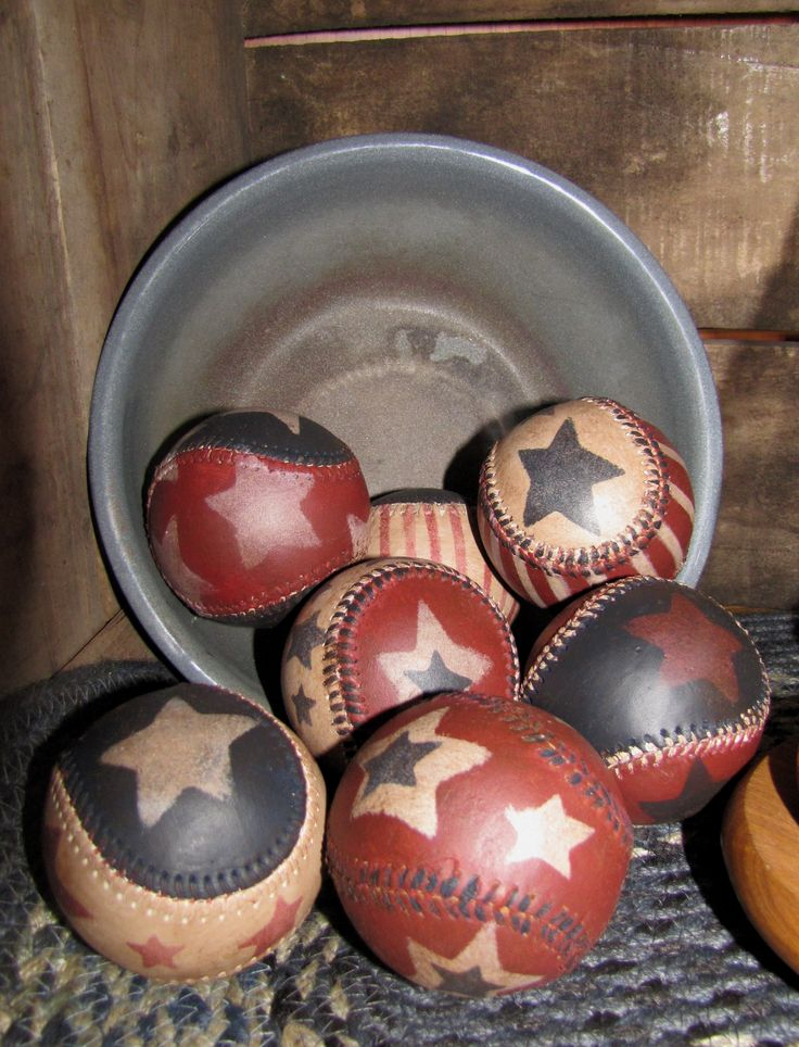 What is more American than Americana painted baseballs?