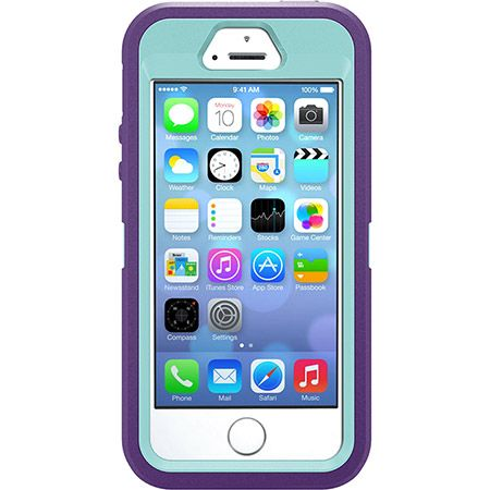 Rugged Iphone 5 Case 5s Otterbox Defender Series 59 90 Purple Outer Layer