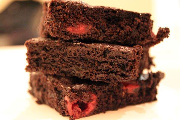dark cherry brownies