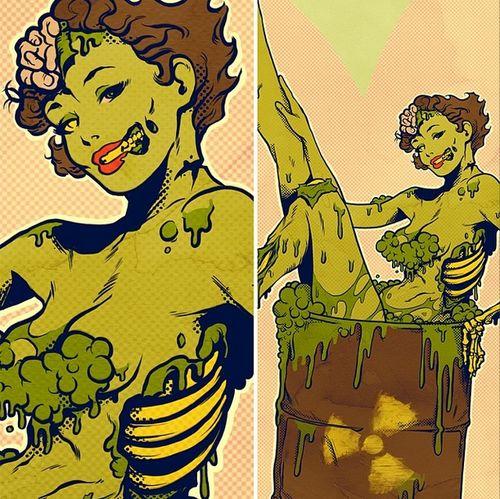 Zombie digital art | via Tumblr