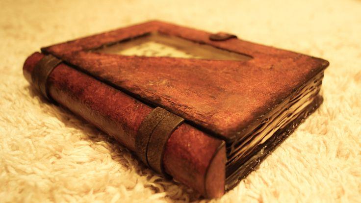 Decoupage Tutorial Empossed Leather Effect - Εφέ Ανάγλυφο Δέρμα - Diy