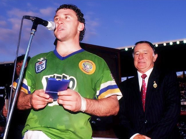 1990 Grand Final: Canberra Raiders half Ricky Stuart