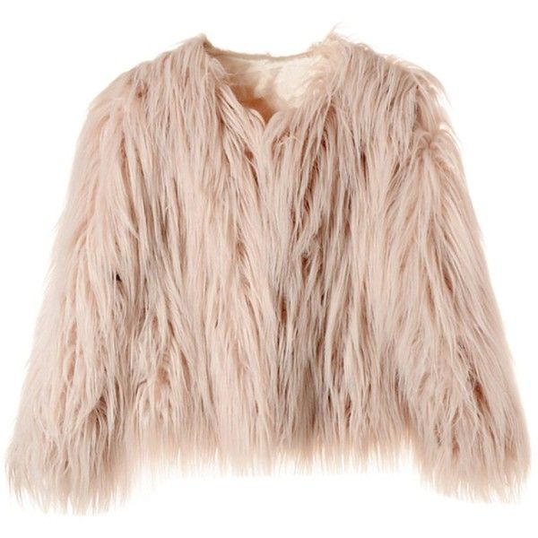 Samgoo Women's Vintage Solid Color Faux Fur Winter Warm Short Coat ($28) ❤ liked on Polyvore featuring outerwear, coats, faux fur coats, pink coat, fake fur coat, imitation fur coats and short coat