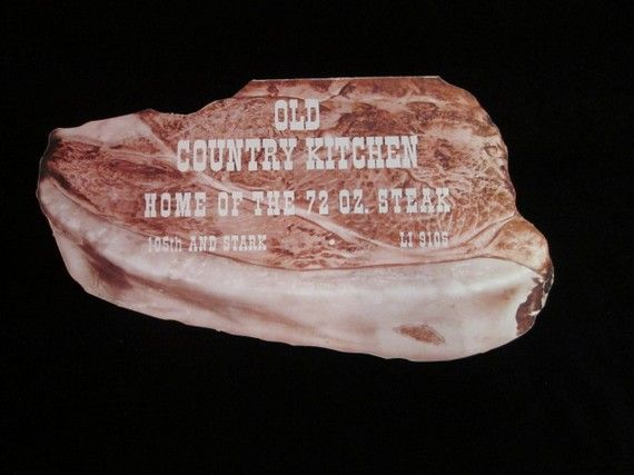 Old Country Kitchen Home Of The 72 Oz Steak Menu