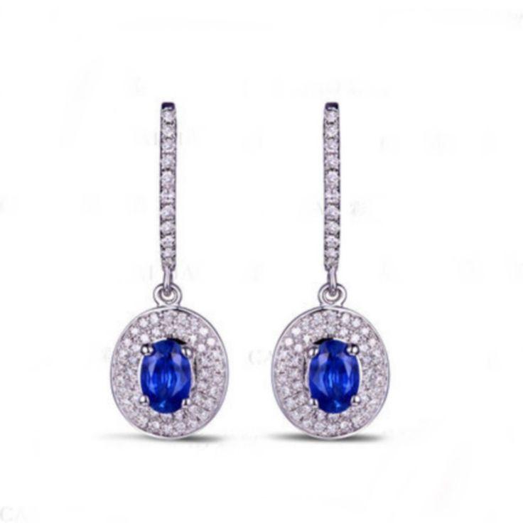 Ellen Boucles d'oreilles Saphir Diamant