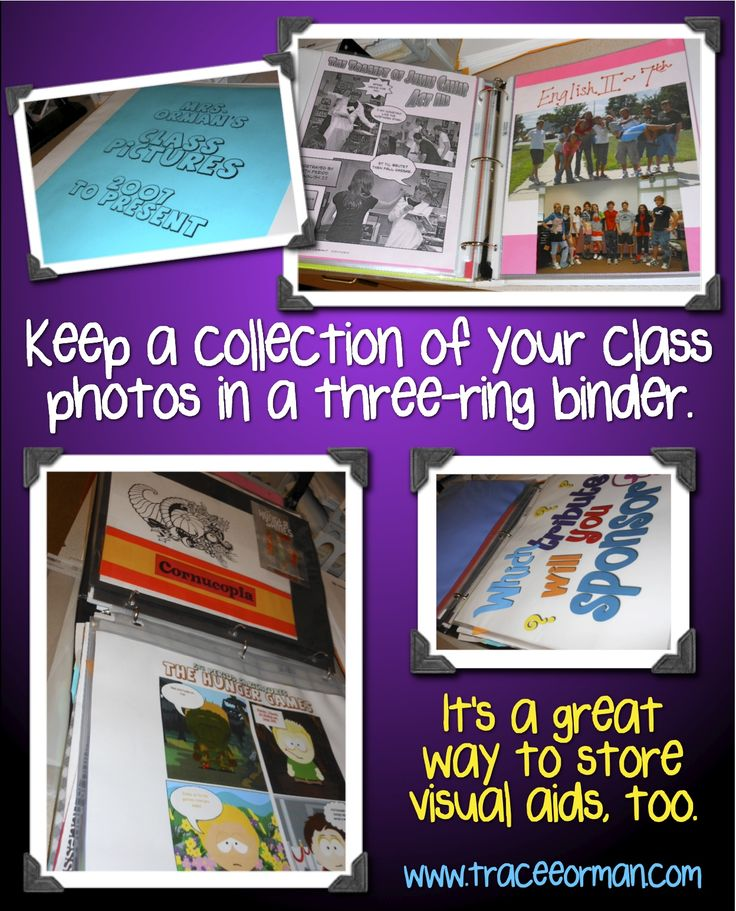 Use sheet protectors to display visual aids and/or class photos, then put them in a three-ring binder after you've displayed them. You'll end up with an organized unit of visuals and/or a nice class photo album.  More ideas & info. on blog.: Laminatorreplaceclassroom Jpg, Art Teacher, Better, Visual Aids, English Language Art, Preserves Visual, Orman Classroom, Schools English Language, High Schools