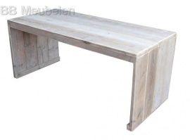 Helma  Stijlvolle strakke steigerhouten tafel lxbxh 160x80x75cm Met dichte zijkanten.