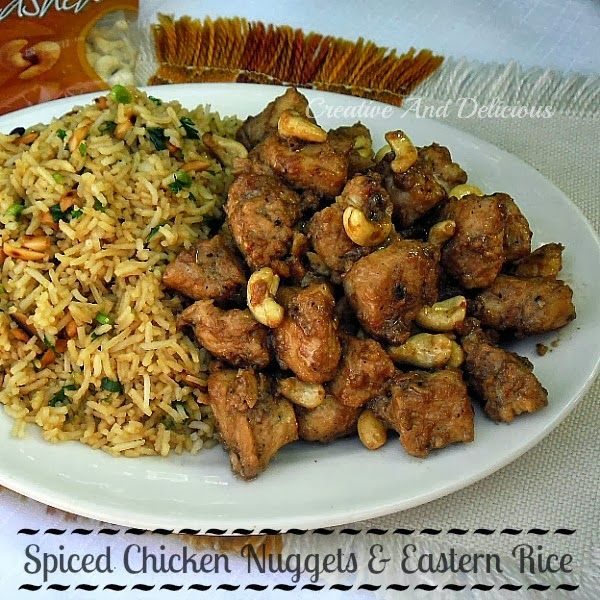 Spiced Chicken Nuggets and Eastern Rice #SpicedChicken #ChickenNuggets #EasternRice: Spicedchicken Chickennugget, Chicken Nuggets, Chicken Recipes, Rice Spicedchicken, Dinners Recipes, Chicken Dishes, Eastern Rice, Chickennugget Easternr, Spices Chicken