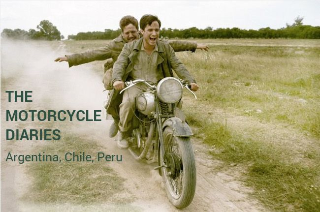 The Motorcycle Diaries ('Diarios de motocicleta') #itinerary and #filming #locations! A beautiful tale about the coming-of-age of friends traveling abroad from the first time who, beyond just fun and adventures, face life challenges and become aware of the world's complexities… A 2004 film based on Ernesto 'Che' Guevara's memoirs!