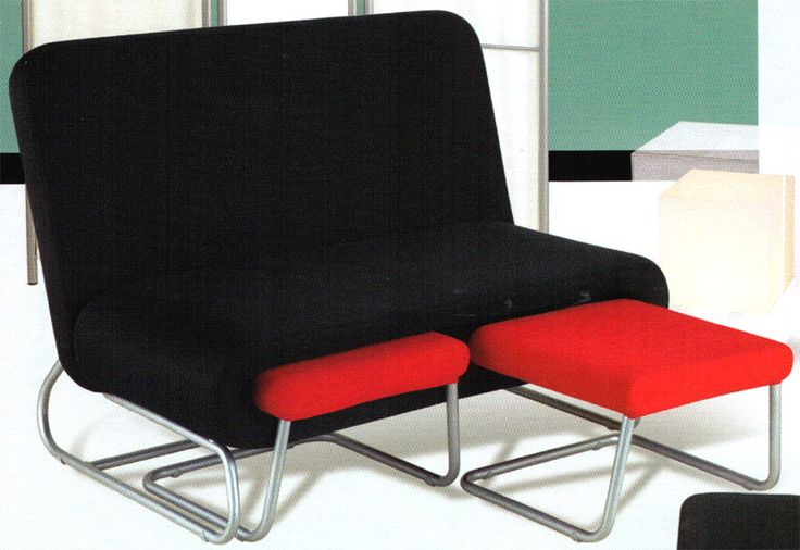 College Dorm Loveseat W Pullout Ottoman Ottomans Colleges And College Dorms