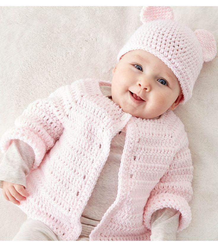 Make A Crochet Baby Jacket (newborn - 3 months - 6/12 months)