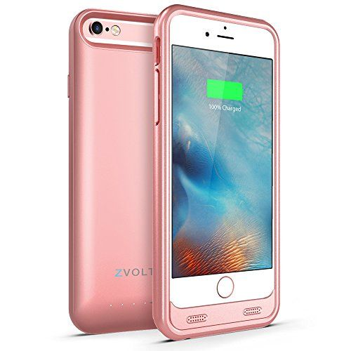 iPhone 6S Battery Case, iPhone 6 Battery Case, ZVOLTZ Wireless External Protective iPhone 6s Charging Case (4.7 Inches)[Rose Gold][1-Year Warranty] - 3100mAh Portable Charge[MFI Apple Certified]