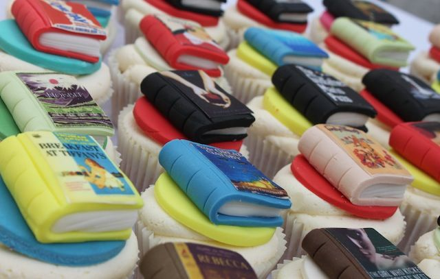 Hungry for knowledge?  Try these Book Cupcakes - Victoria's Kitchen (London) - A home based boutique bakery specialising in beautiful bespoke cupcakes, cakes and cookies.