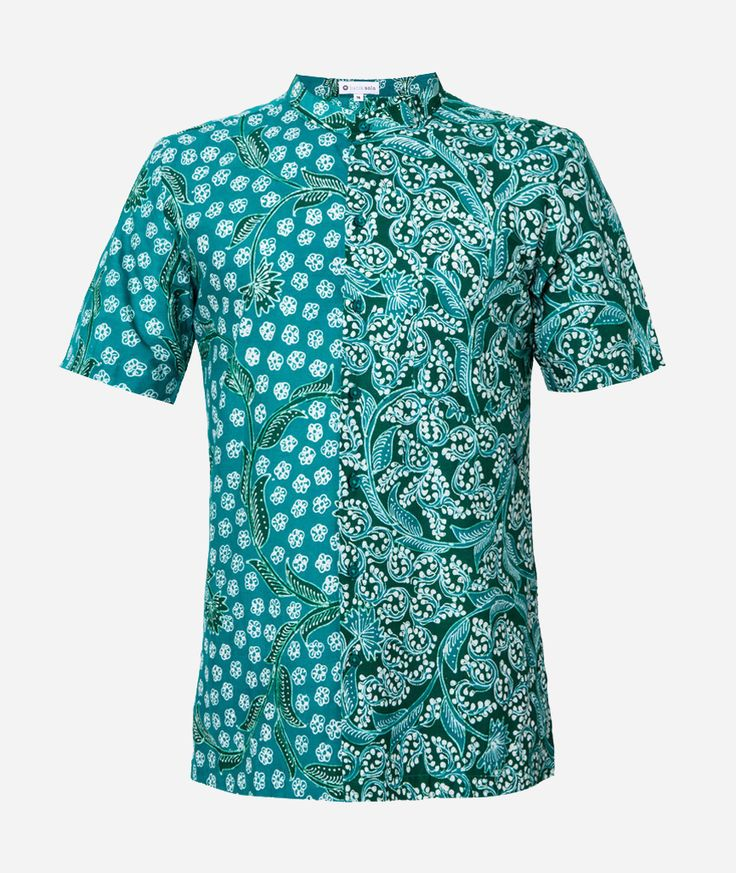 261 Koko by Batik Solo. Batik shirt made fromm cotton, with green color, short sleeves, front button, batik pattern, regular fit. Batik shirt for our formal occasion, Batik shirt will never goes wrong, this green batik sure look trendy.   http://www.zocko.com/z/JIi6Y
