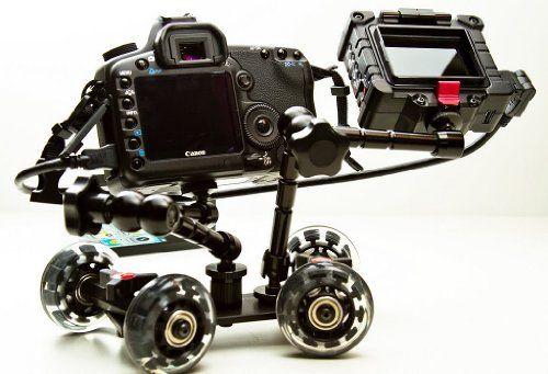 Pico Flex Dolly Kit Digital DSLR Skater Camera Dolly Slider Table Top Dolly Kit by ePhotoInc PICOKIT