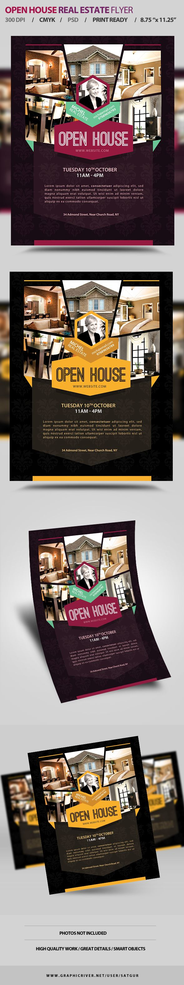 Open House Real Estate Promotion Flyer on Behance
