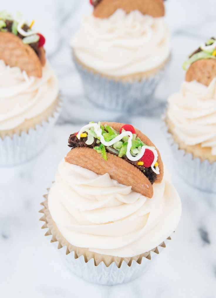 Taco Cupcakes for Cinco de Mayo!