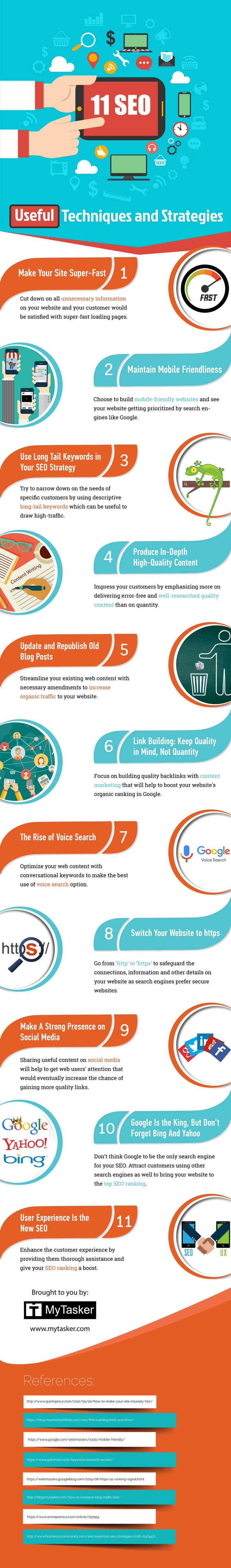 SEO Techniques and Strategies Infographics