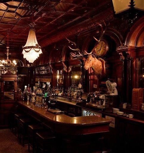 Victorian Back Bar Irish Pub Design